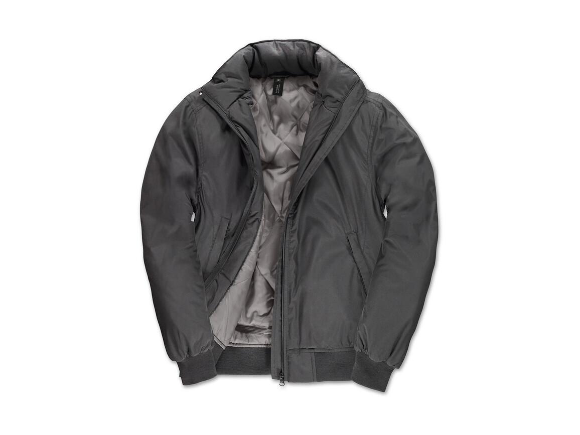 B & C Crew Bomber/women Jacket, Dark Grey/Warm Grey, 2XL bedrucken, Art.-Nr. 435421617