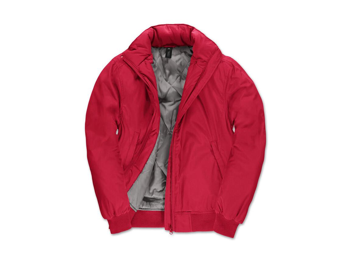 B & C Crew Bomber/women Jacket, Red/Warm Grey, XS bedrucken, Art.-Nr. 435424702