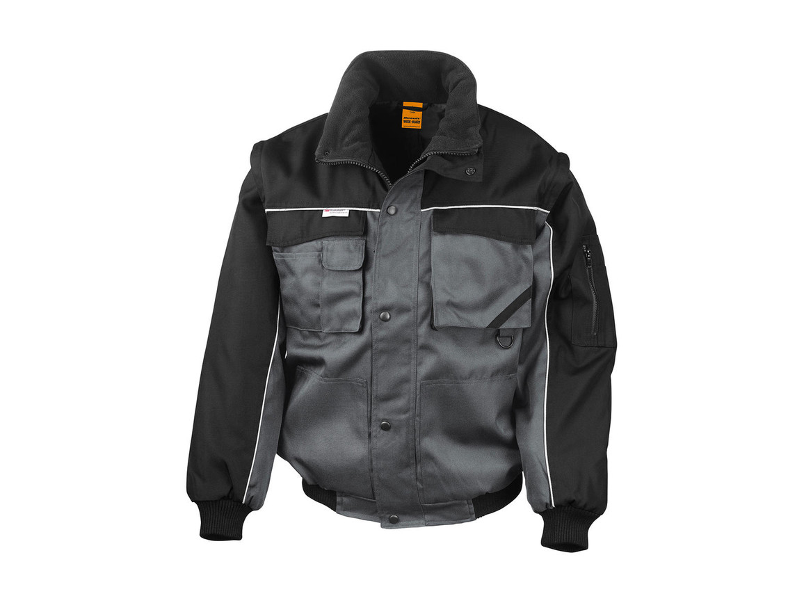 Result Heavy Duty Jacket, Grey/Black, L bedrucken, Art.-Nr. 437331485