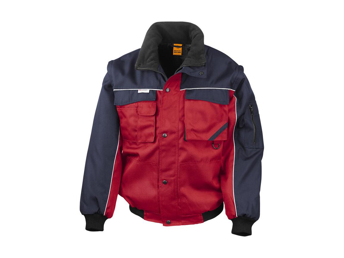 Result Heavy Duty Jacket, Red/Navy, 3XL bedrucken, Art.-Nr. 437334558