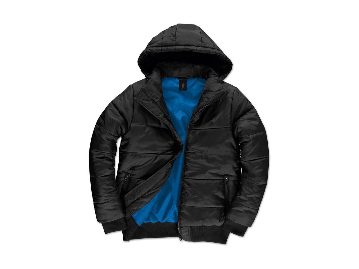 B & C Superhood/men Jacket, Black/Cobalt Blue, 3XL bedrucken, Art.-Nr. 437421558
