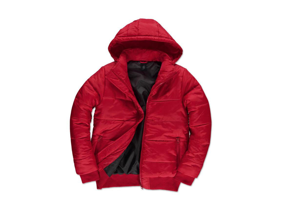 B & C Superhood/men Jacket, Red/Black, S bedrucken, Art.-Nr. 437424513