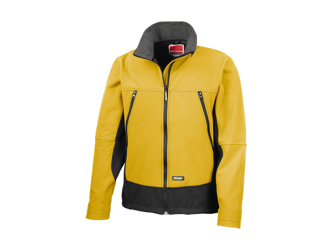 Result Softshell Activity Jacket, Sport Yellow/Black, M bedrucken, Art.-Nr. 438336664
