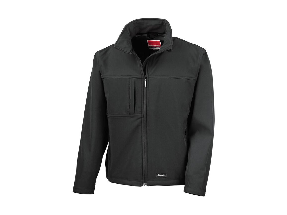 Result Classic Softshell Jacket, Black, S bedrucken, Art.-Nr. 439331013