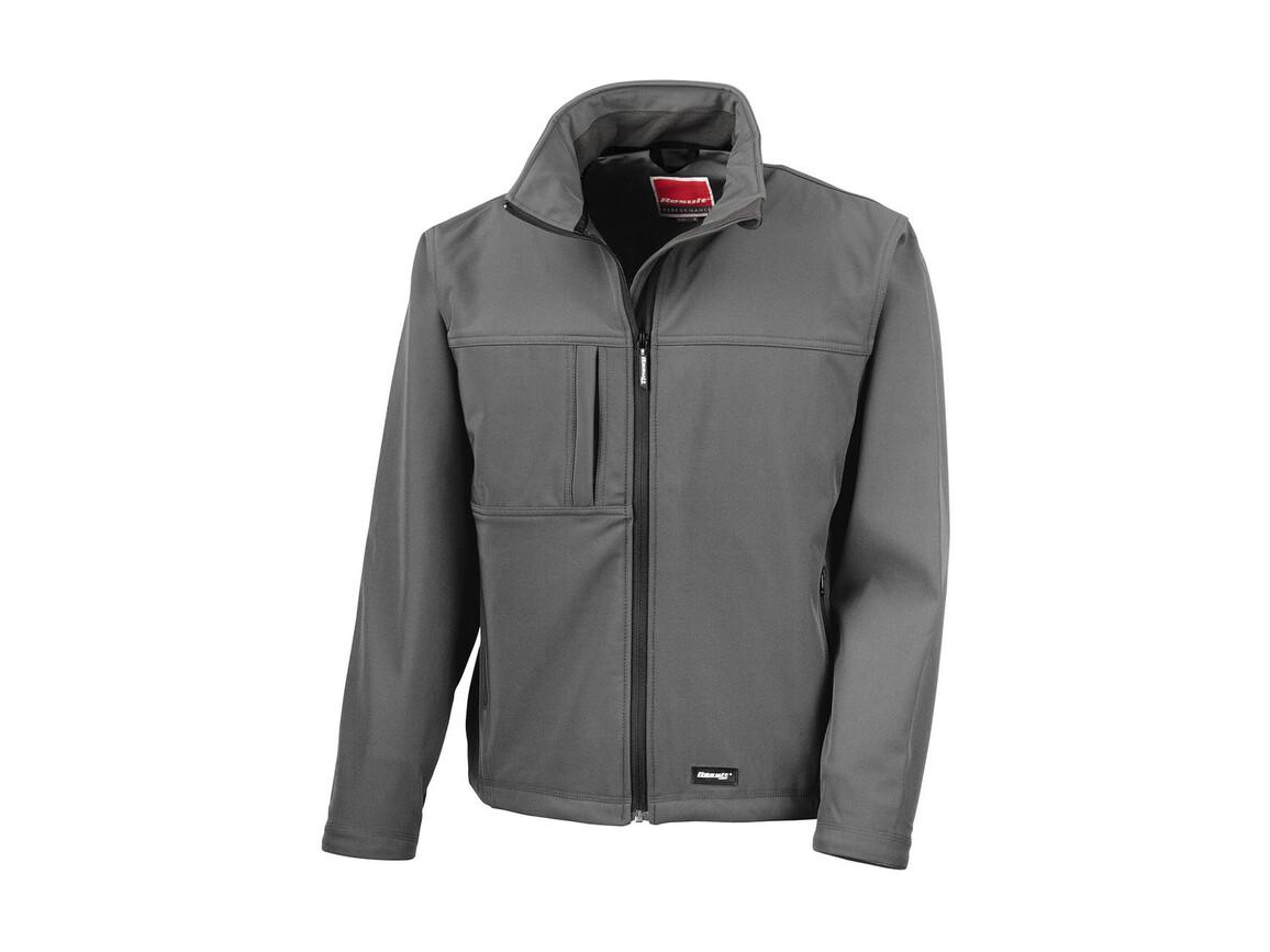 Result Classic Softshell Jacket, Grey, M bedrucken, Art.-Nr. 439331274
