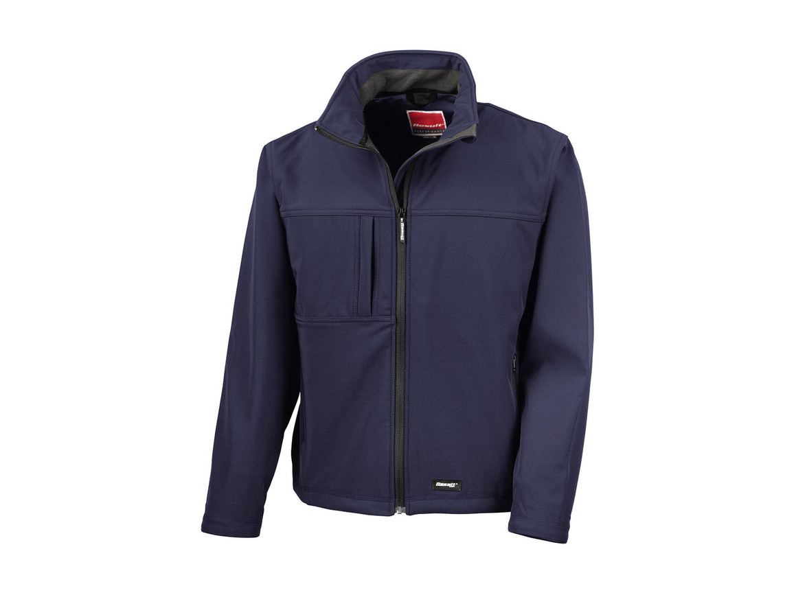Result Classic Softshell Jacket, Navy, 3XL bedrucken, Art.-Nr. 439332008