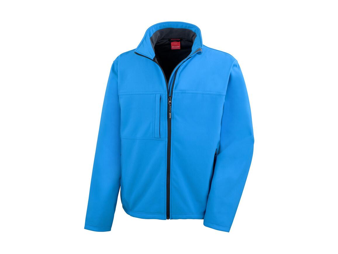 Result Classic Softshell Jacket, Azure, XL bedrucken, Art.-Nr. 439333106