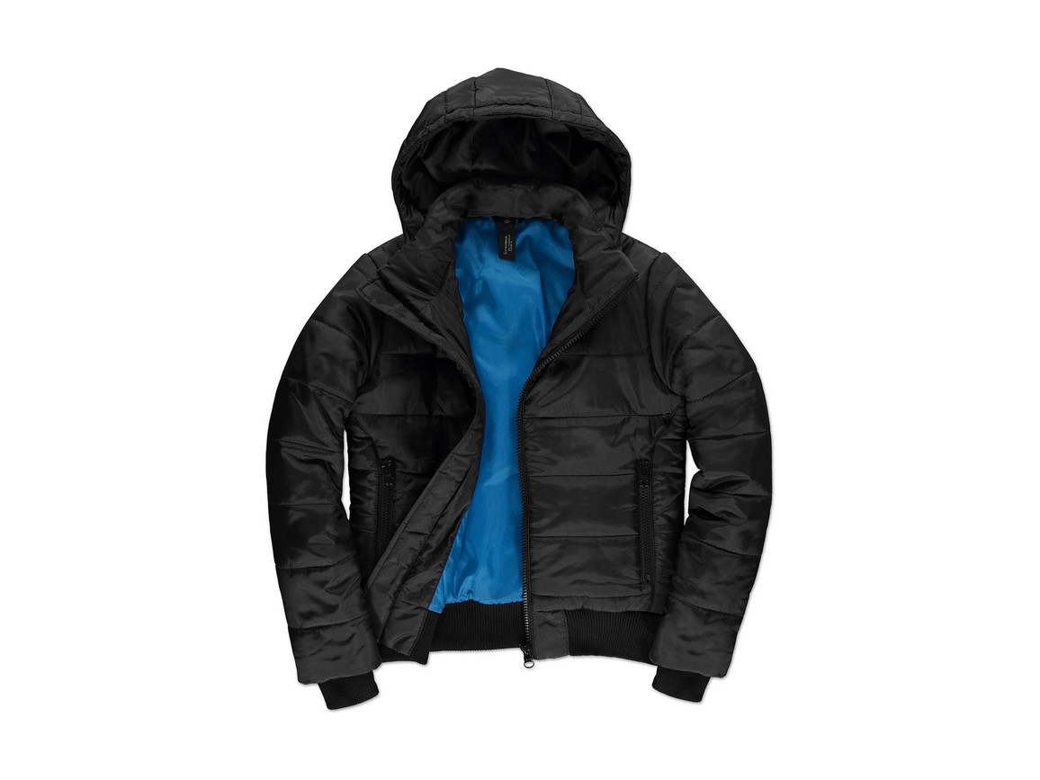 B & C Superhood/women Jacket, Black/Cobalt Blue, M bedrucken, Art.-Nr. 439421554