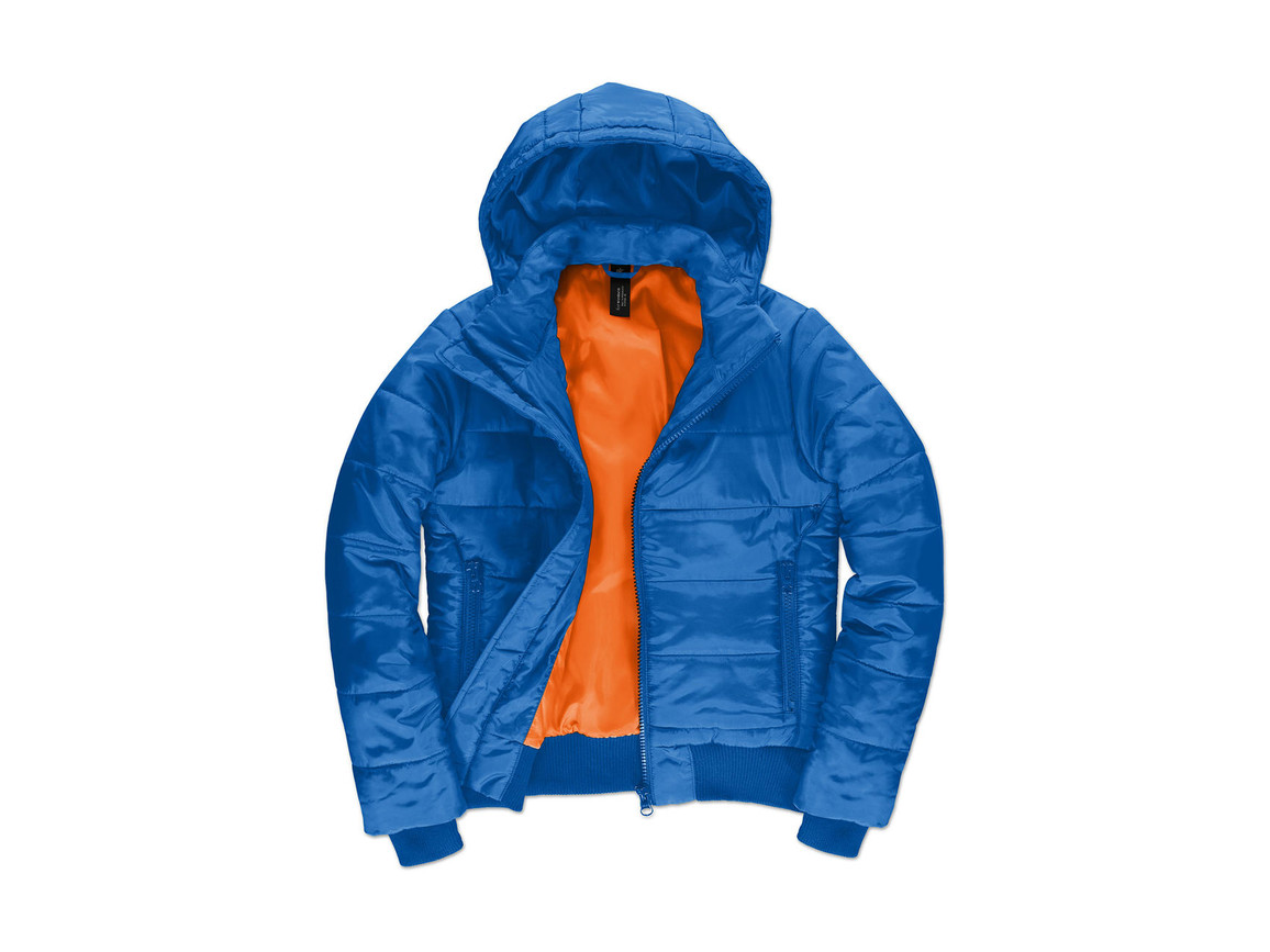 B & C Superhood/women Jacket, Royal/Neon Orange, S bedrucken, Art.-Nr. 439423723
