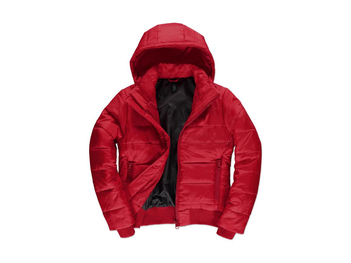 B & C Superhood/women Jacket, Red/Black, M bedrucken, Art.-Nr. 439424514