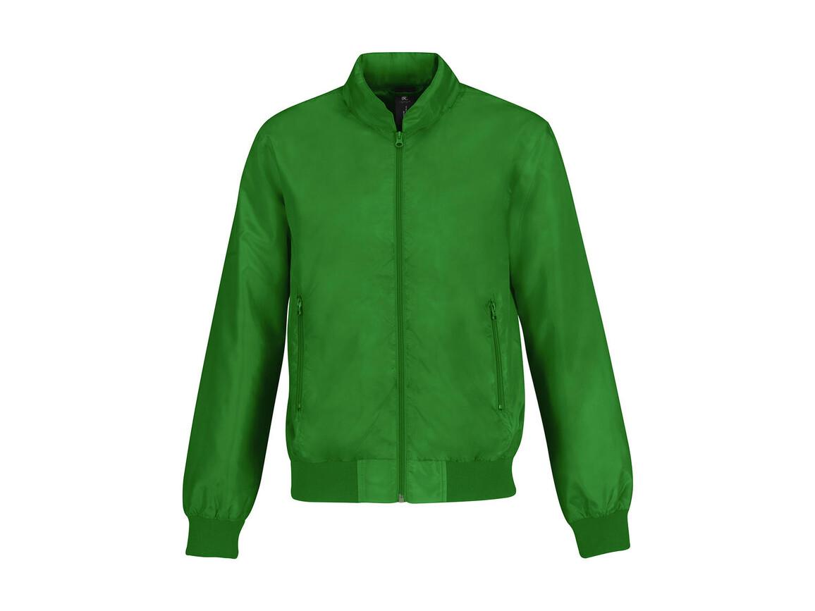 B & C Trooper/men Jacket, Real Green/Neon Orange, S bedrucken, Art.-Nr. 440425703