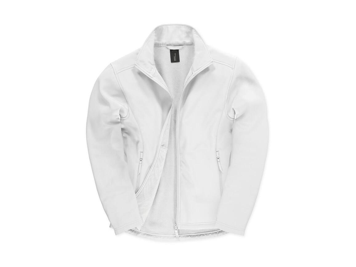 B & C ID.701 Softshell Jacket, White/White, L bedrucken, Art.-Nr. 445420705