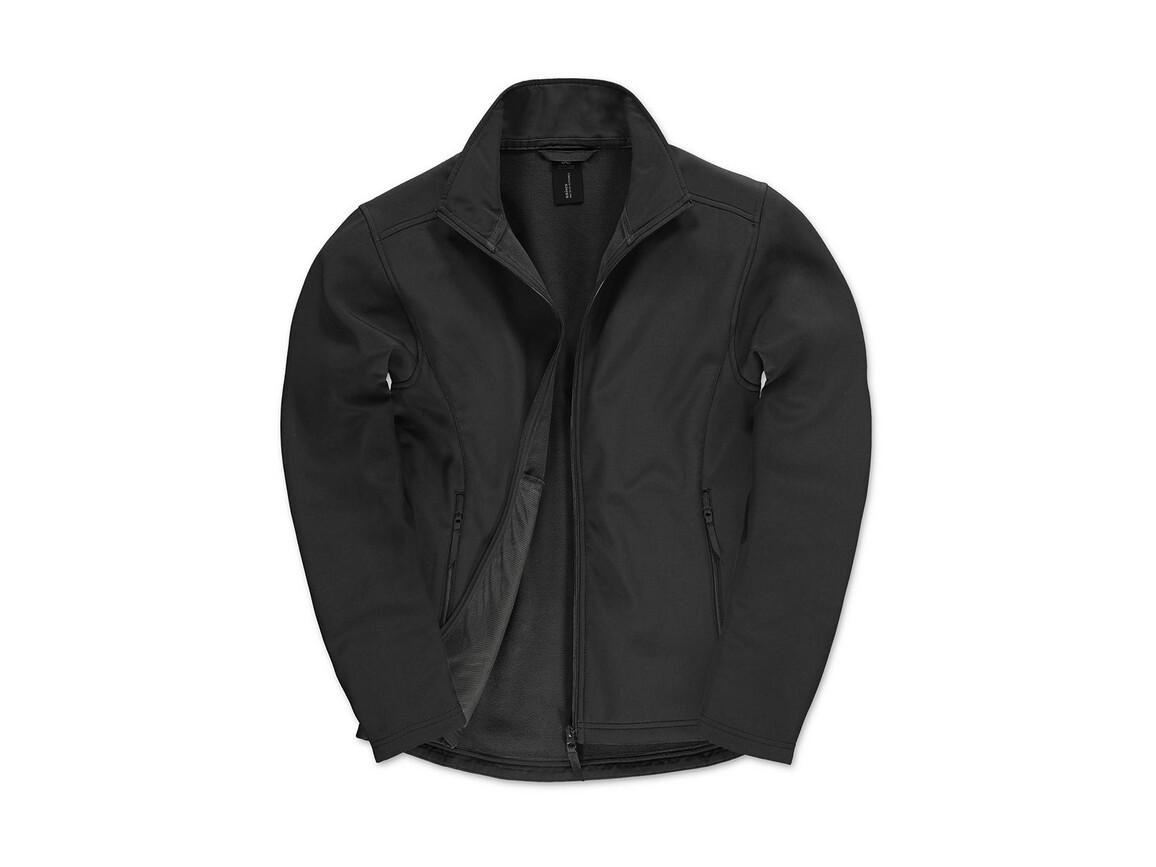 B & C ID.701 Softshell Jacket, Black/Black, XL bedrucken, Art.-Nr. 445421776