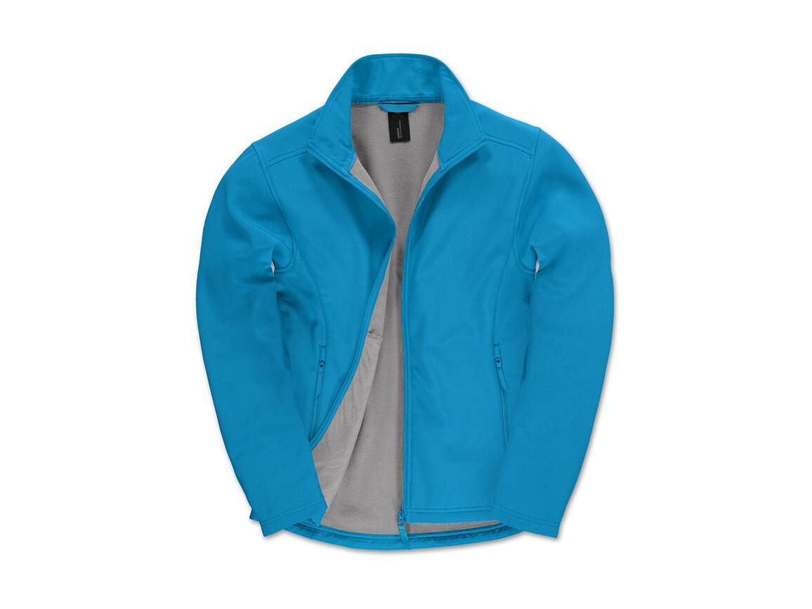 B & C ID.701 Softshell Jacket, Atoll/Attitude Grey, 2XL bedrucken, Art.-Nr. 445423697