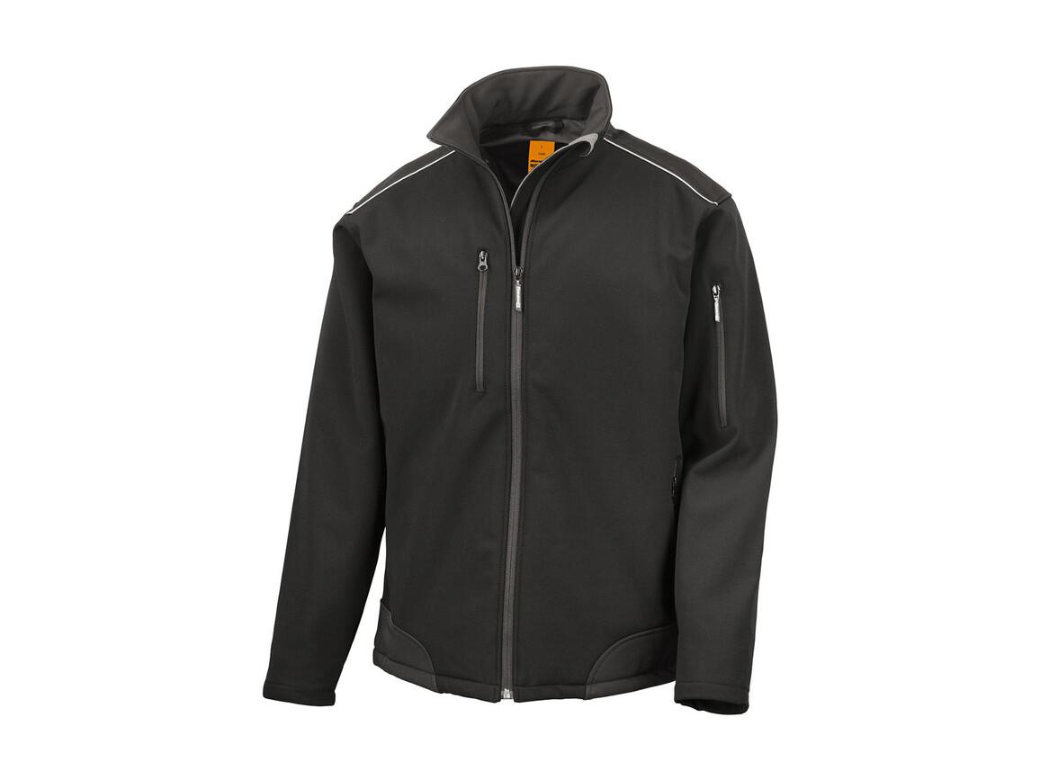 Result Ripstop Softshell Work Jacket, Black/Black, XL bedrucken, Art.-Nr. 447331776
