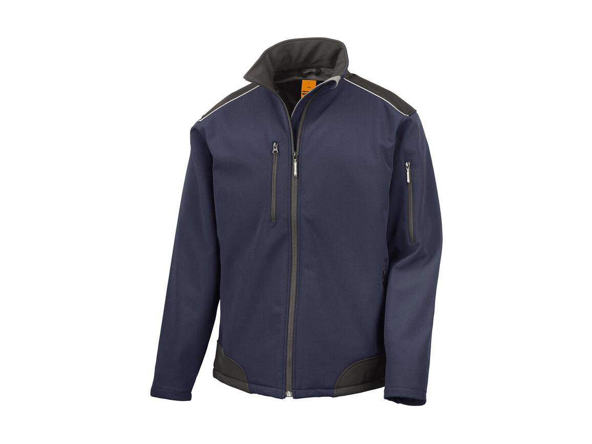 Result Ripstop Softshell Work Jacket, Navy/Black, S bedrucken, Art.-Nr. 447332403