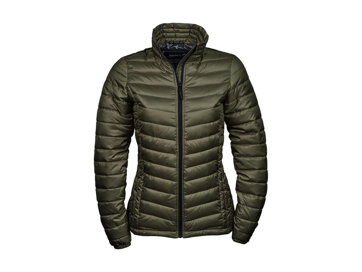 Tee Jays Ladies` Zepelin Jacket, Olive, S bedrucken, Art.-Nr. 454545303