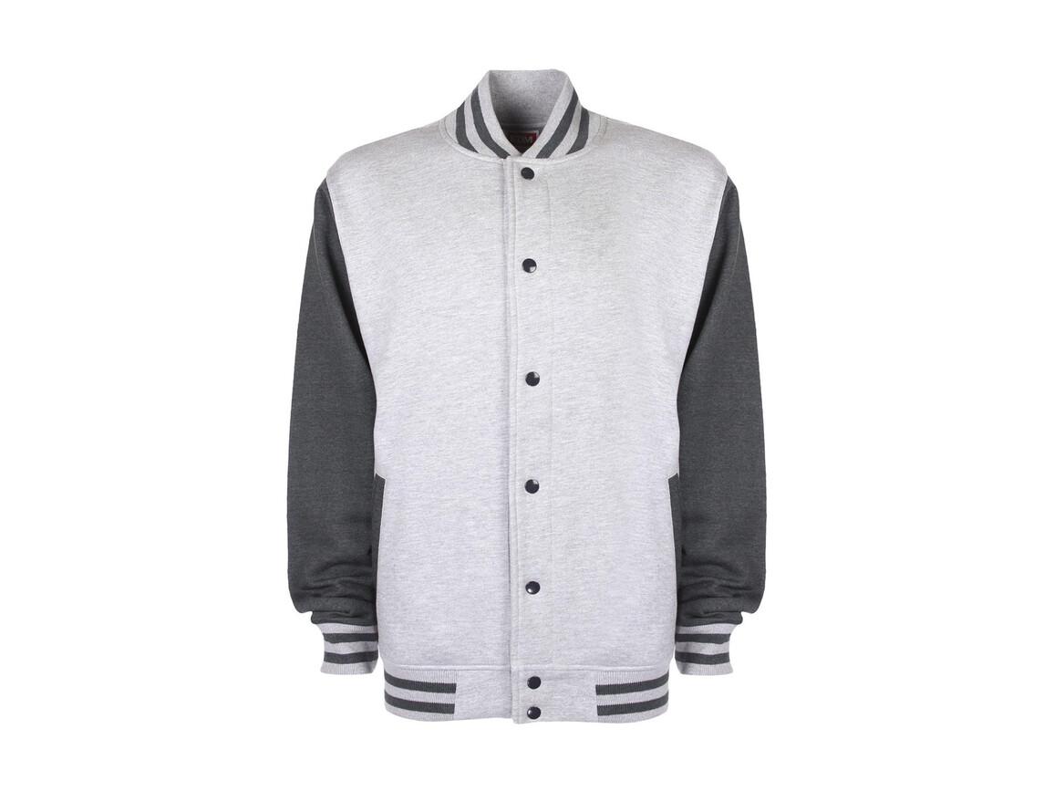 FDM Varsity Jacket, Sport Grey/Charcoal, 2XL bedrucken, Art.-Nr. 455551707
