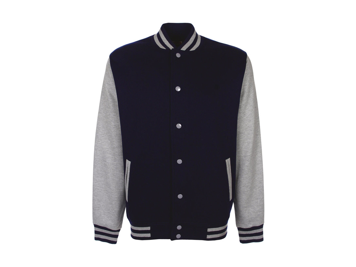 FDM Varsity Jacket, Navy/Sport Grey, XS bedrucken, Art.-Nr. 455552742