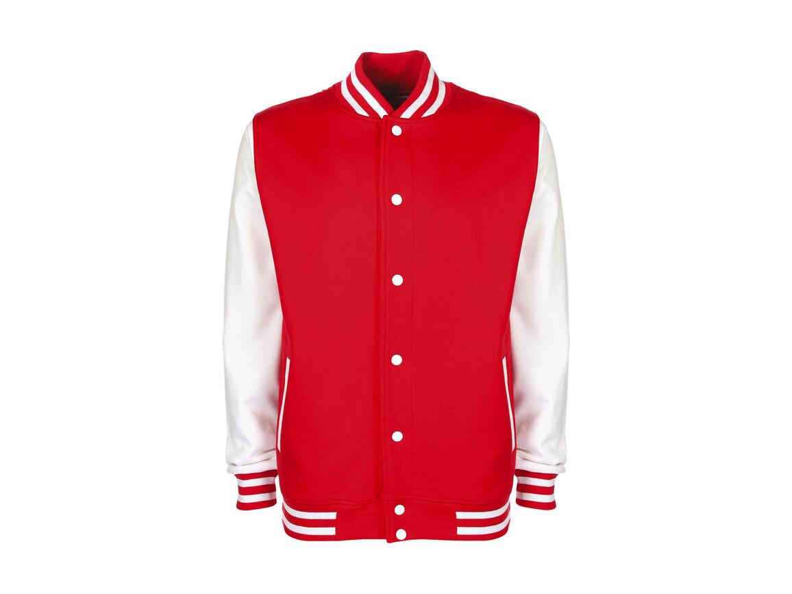 FDM Varsity Jacket, Fire Red/White, M bedrucken, Art.-Nr. 455554504