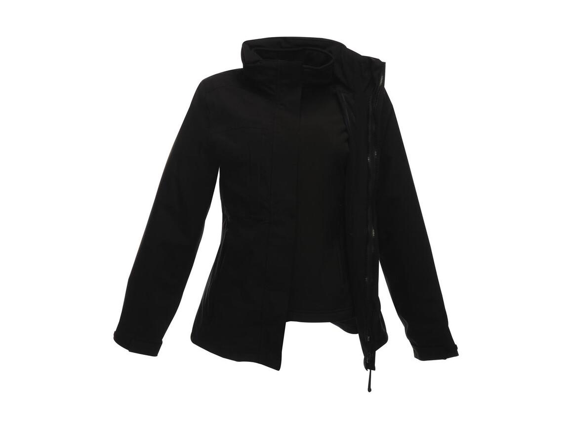 Regatta Women`s Kingsley 3-in-1 Jacket, Black/Black, 16 (42) bedrucken, Art.-Nr. 457171526
