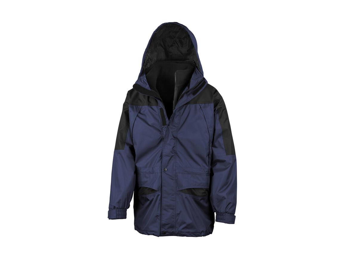 Result Alaska 3-in-1 Jacket, Navy/Black, XS bedrucken, Art.-Nr. 460332402