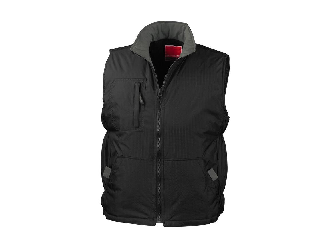 Result Ripstop Team Sport Vest, Black/Grey, S bedrucken, Art.-Nr. 484331513