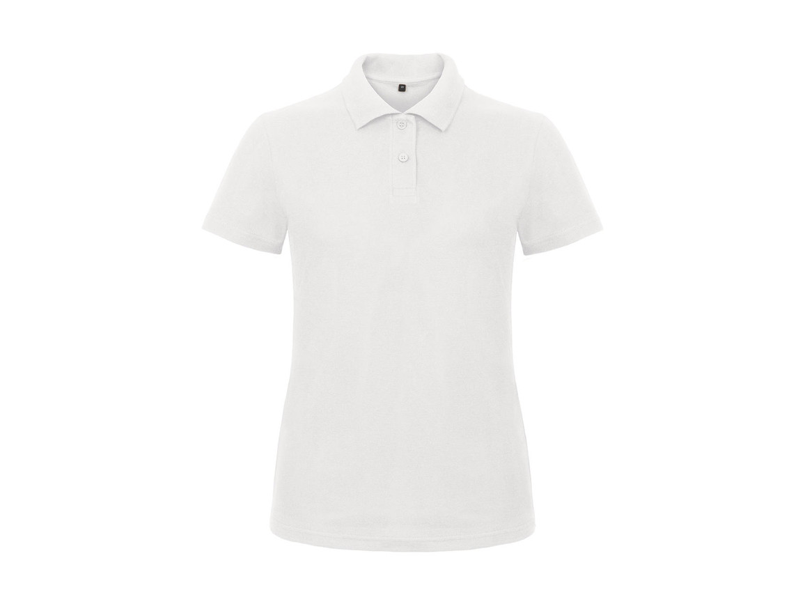 B & C ID.001/women Piqué Polo Shirt, White, 3XL bedrucken, Art.-Nr. 547420008
