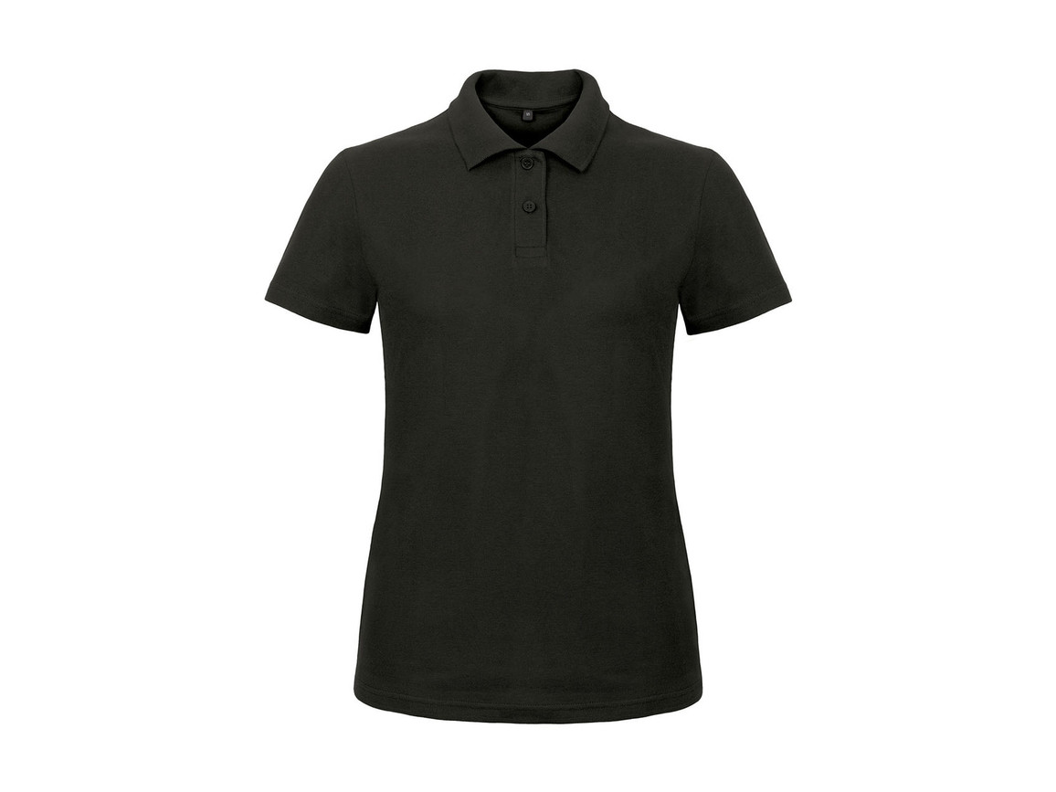 B & C ID.001/women Piqué Polo Shirt, Black, XL bedrucken, Art.-Nr. 547421016