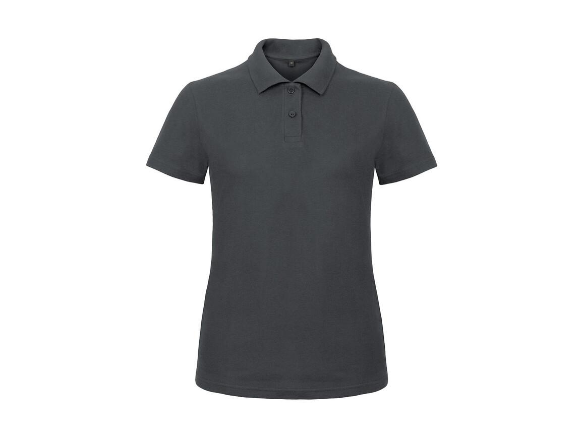 B & C ID.001/women Piqué Polo Shirt, Anthracite, M bedrucken, Art.-Nr. 547421404