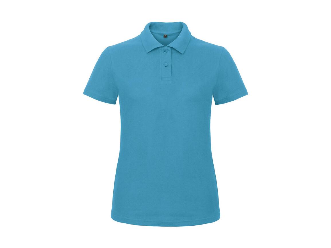 B & C ID.001/women Piqué Polo Shirt, Atoll, XS bedrucken, Art.-Nr. 547423142