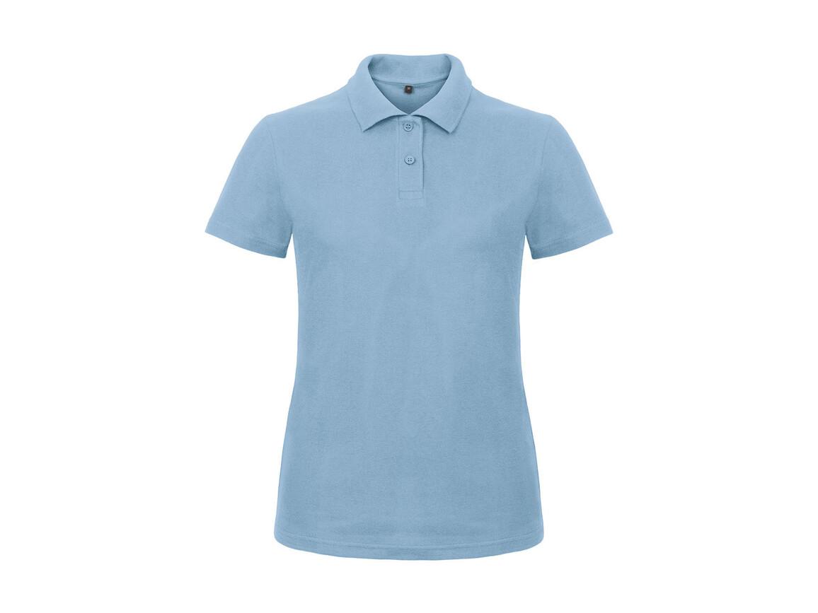 B & C ID.001/women Piqué Polo Shirt, Light Blue, 3XL bedrucken, Art.-Nr. 547423228