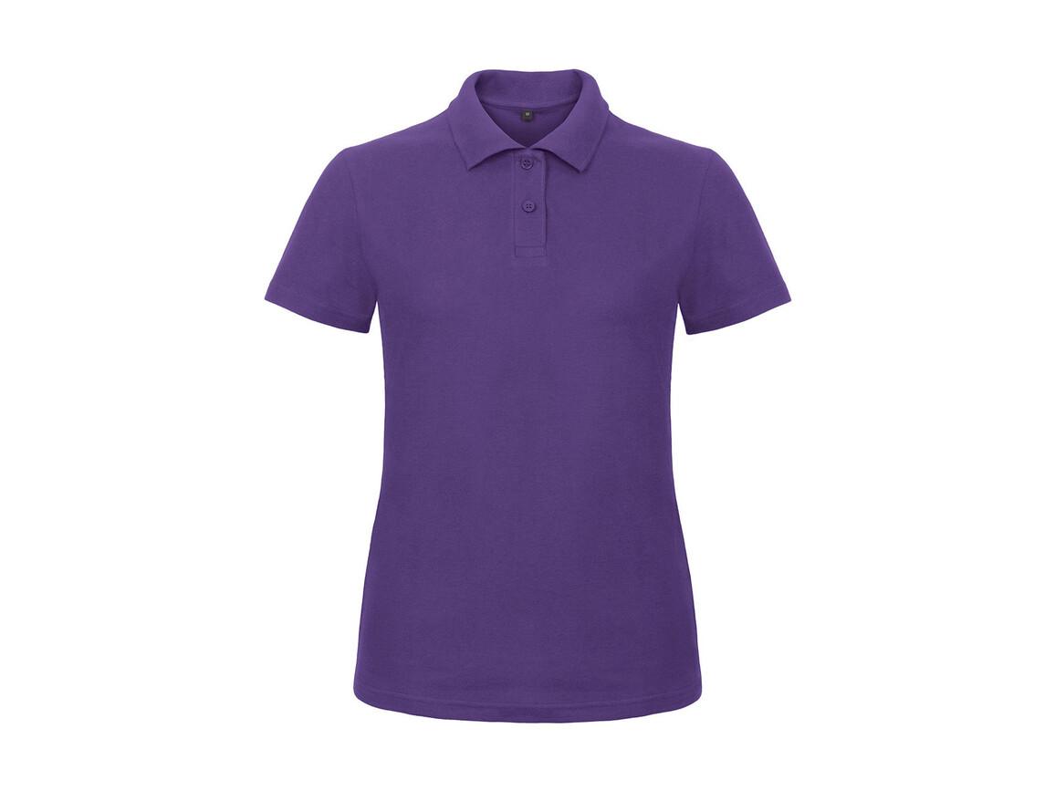 B & C ID.001/women Piqué Polo Shirt, Purple, 2XL bedrucken, Art.-Nr. 547423497