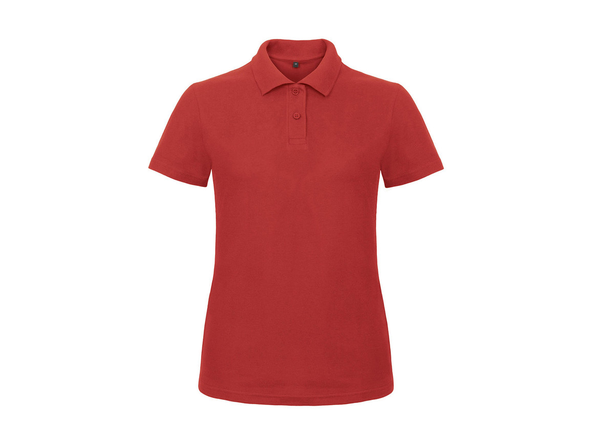 B & C ID.001/women Piqué Polo Shirt, Red, XS bedrucken, Art.-Nr. 547424002