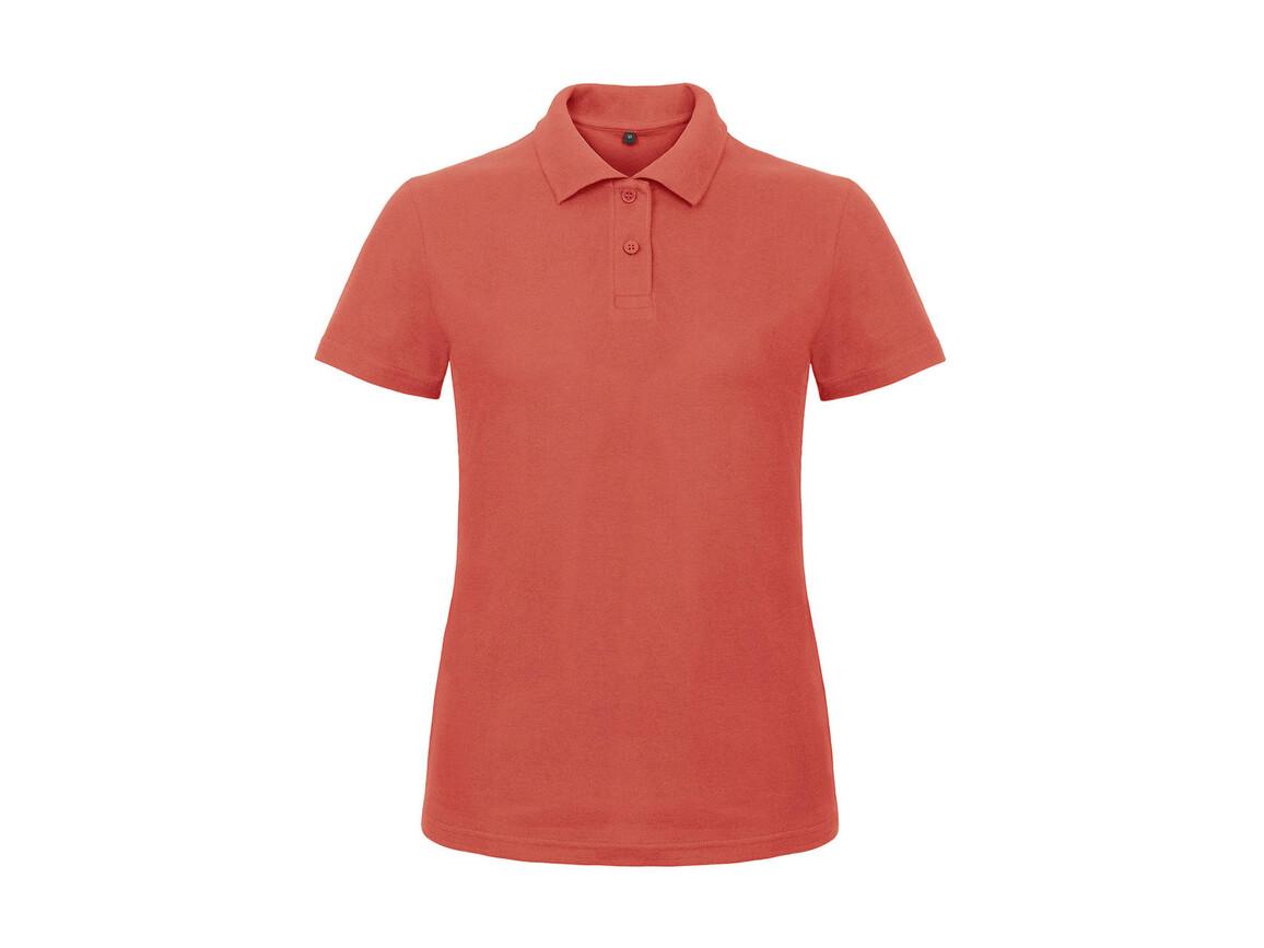 B & C ID.001/women Piqué Polo Shirt, Pixel Coral, L bedrucken, Art.-Nr. 547424305