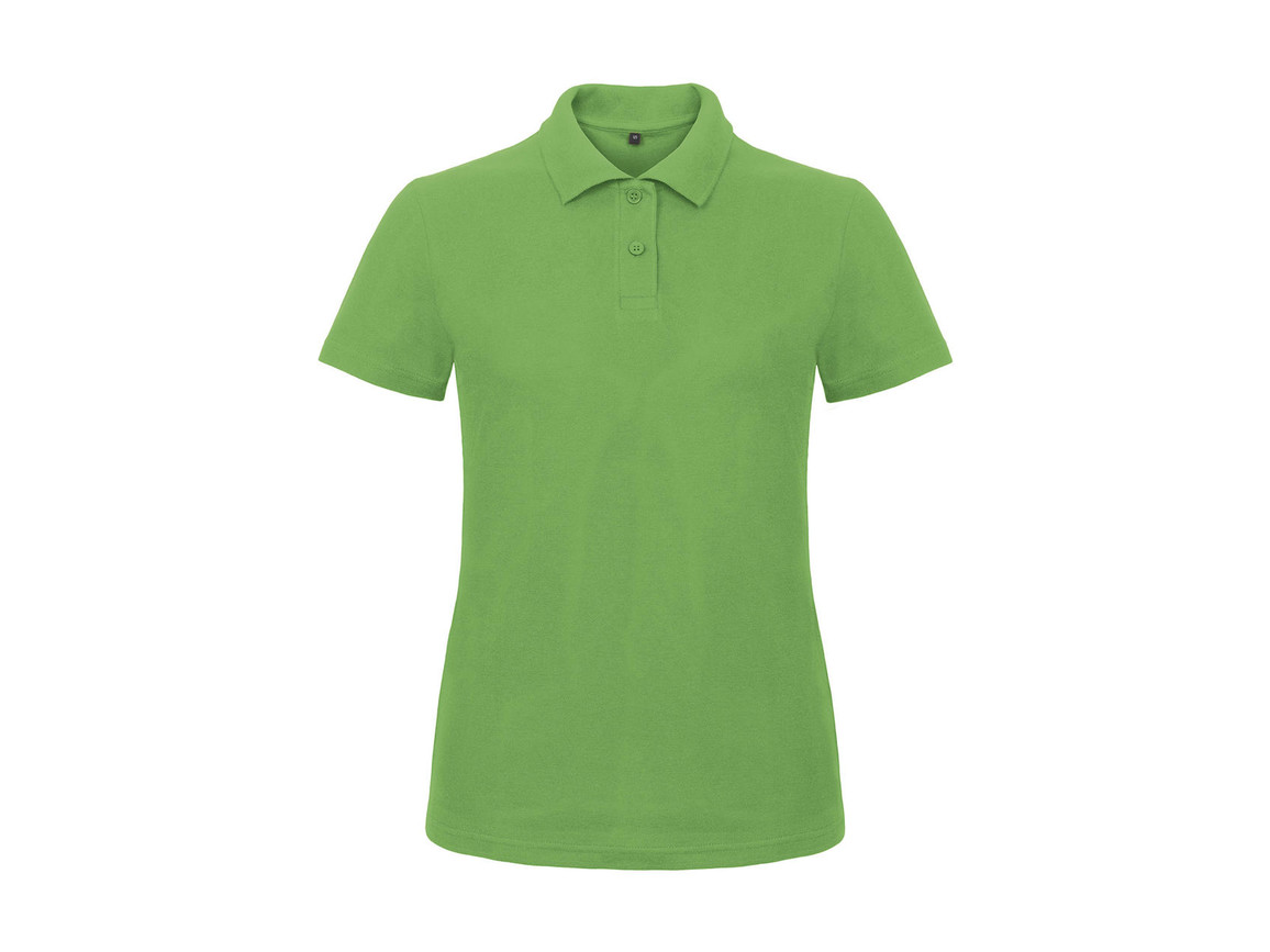 B & C ID.001/women Piqué Polo Shirt, Real Green, S bedrucken, Art.-Nr. 547425033