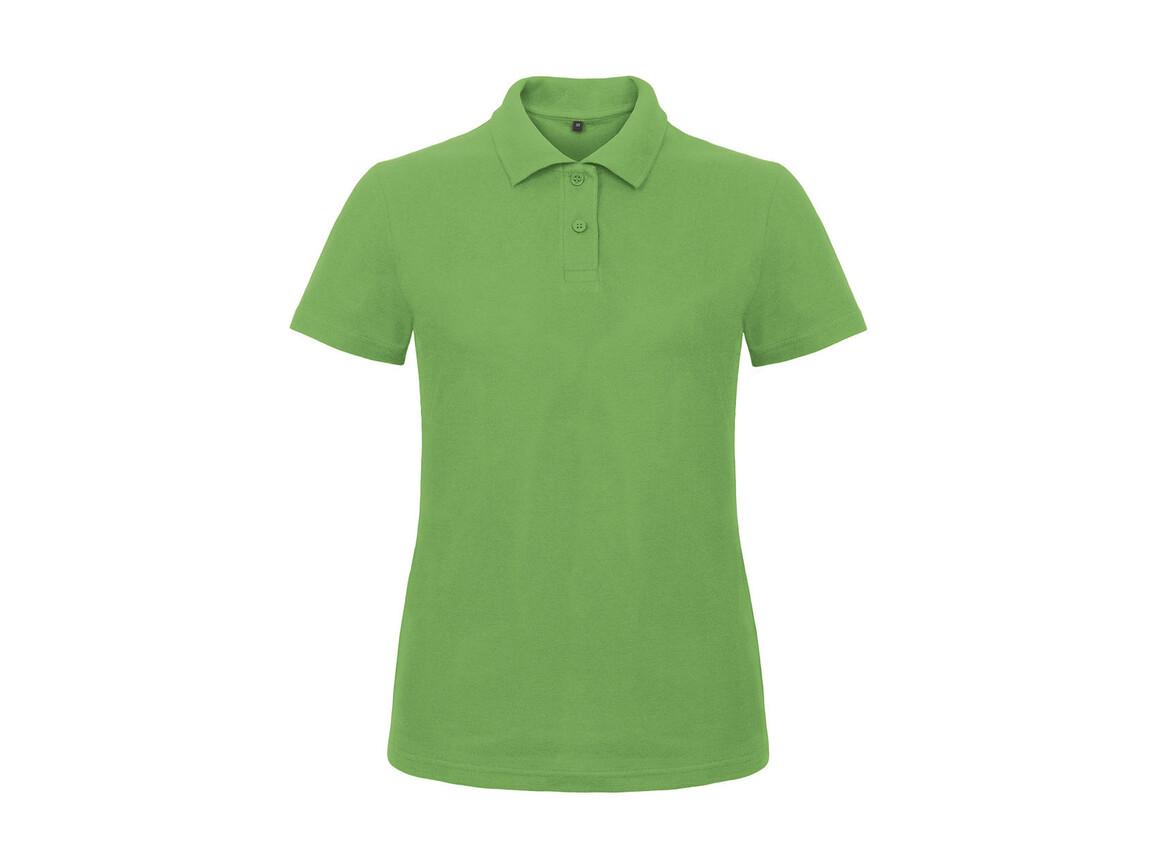 B & C ID.001/women Piqué Polo Shirt, Real Green, S bedrucken, Art.-Nr. 547425033