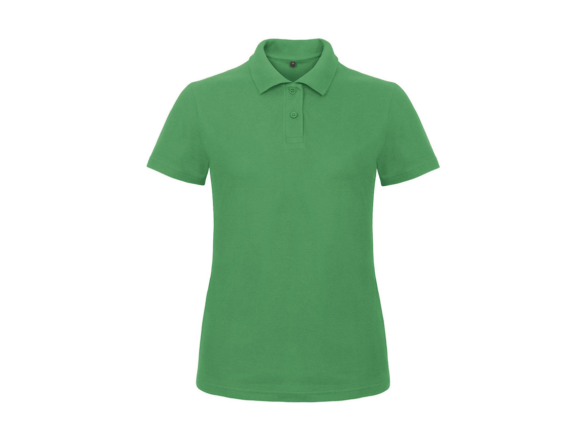 B & C ID.001/women Piqué Polo Shirt, Kelly Green, 3XL bedrucken, Art.-Nr. 547425188