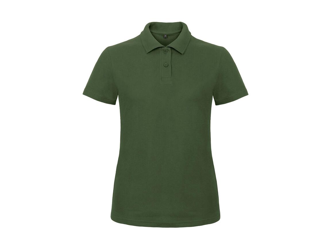 B & C ID.001/women Piqué Polo Shirt, Bottle Green, M bedrucken, Art.-Nr. 547425404