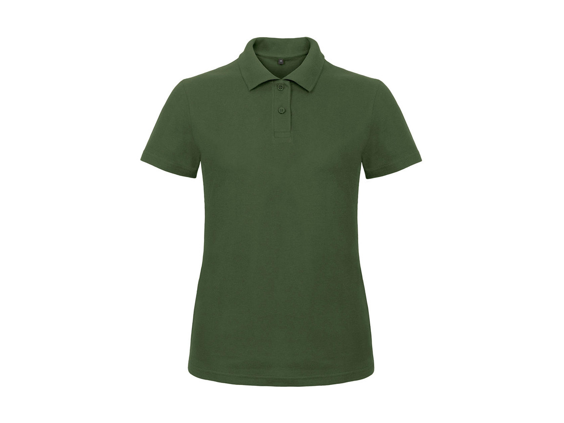 B & C ID.001/women Piqué Polo Shirt, Bottle Green, XL bedrucken, Art.-Nr. 547425406