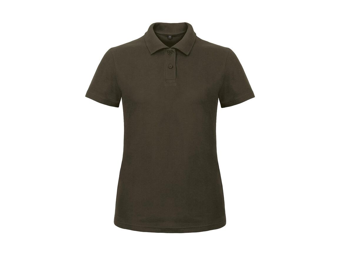B & C ID.001/women Piqué Polo Shirt, Brown, XS bedrucken, Art.-Nr. 547427002