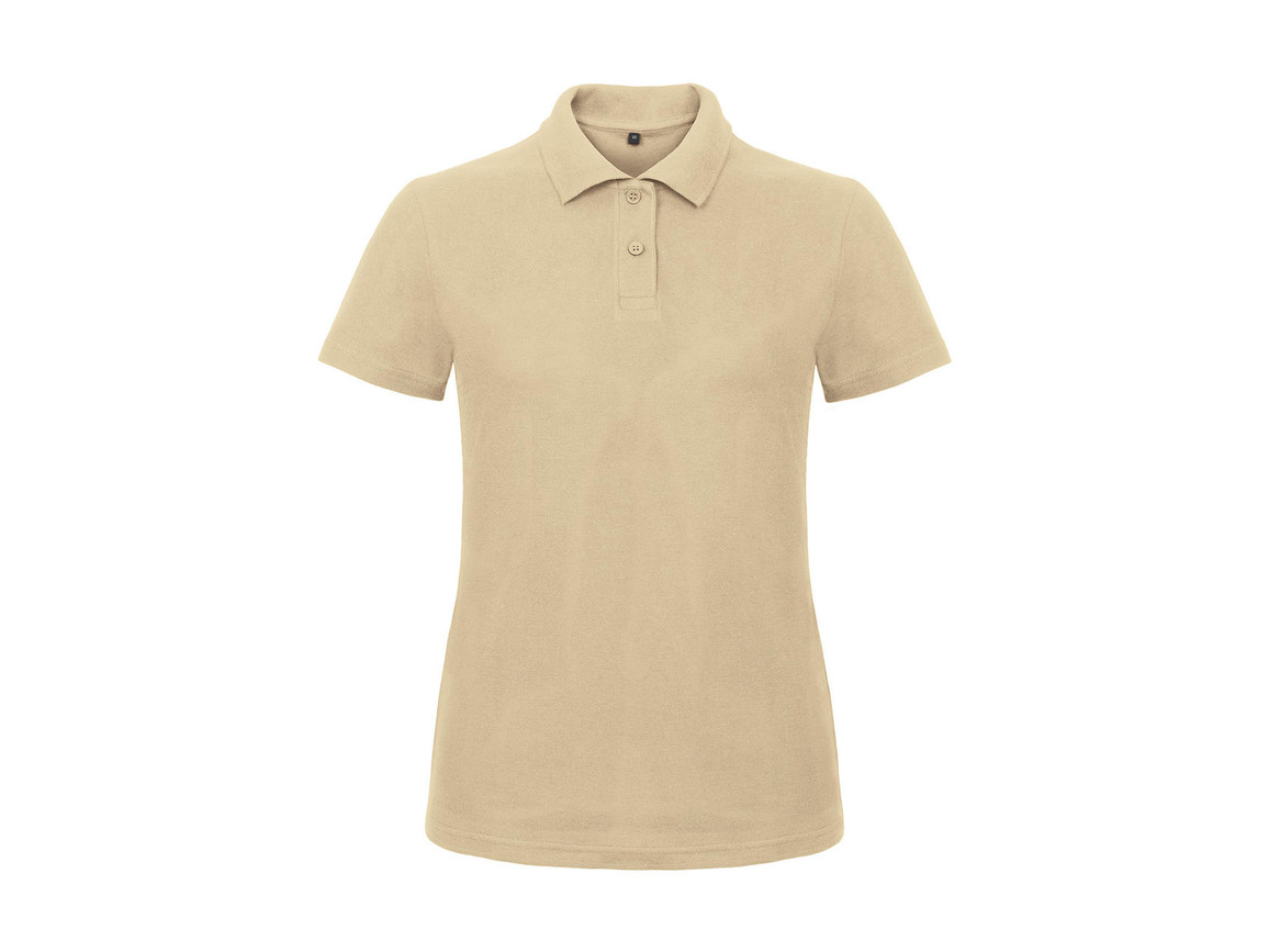 B & C ID.001/women Piqué Polo Shirt, Sand, M bedrucken, Art.-Nr. 547427414