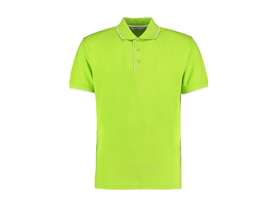 Kustom Kit Classic Fit Essential Polo, Lime/White, L bedrucken, Art.-Nr. 548115505