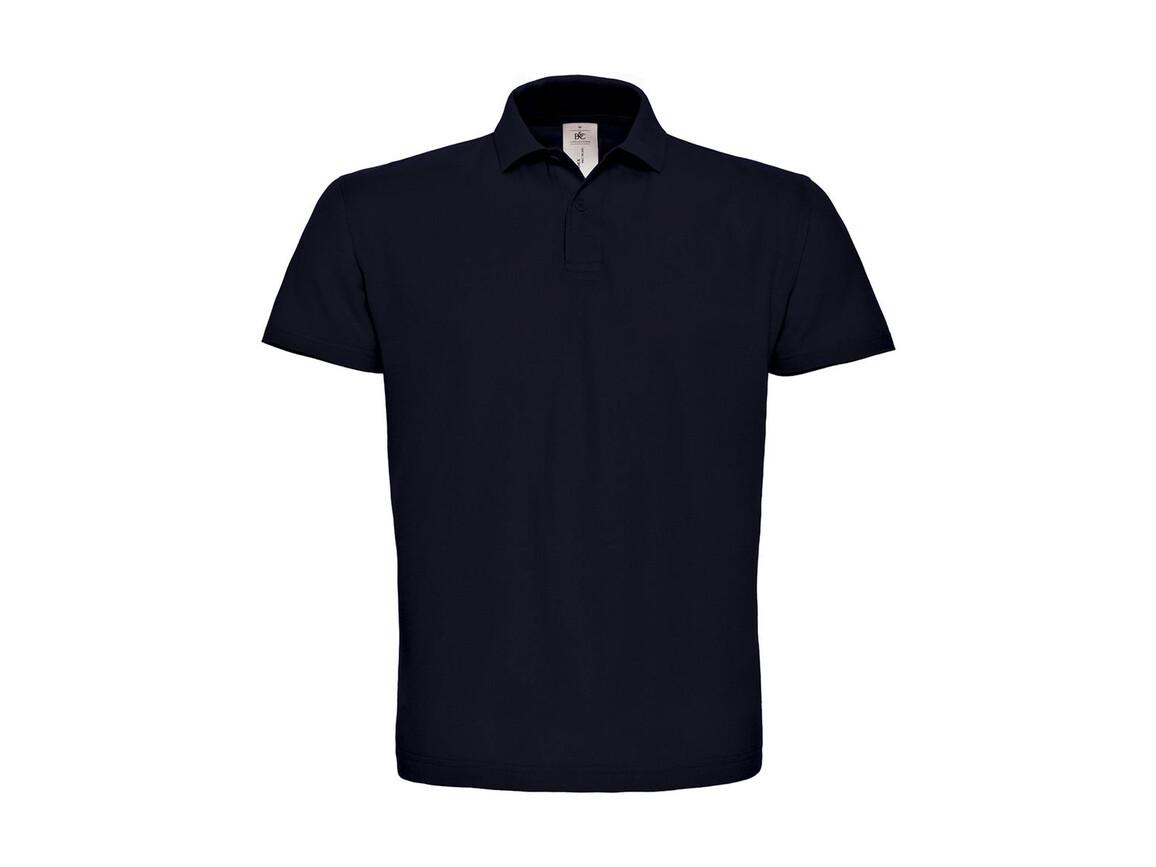 B & C ID.001 Piqué Polo Shirt, Navy, S bedrucken, Art.-Nr. 548422003