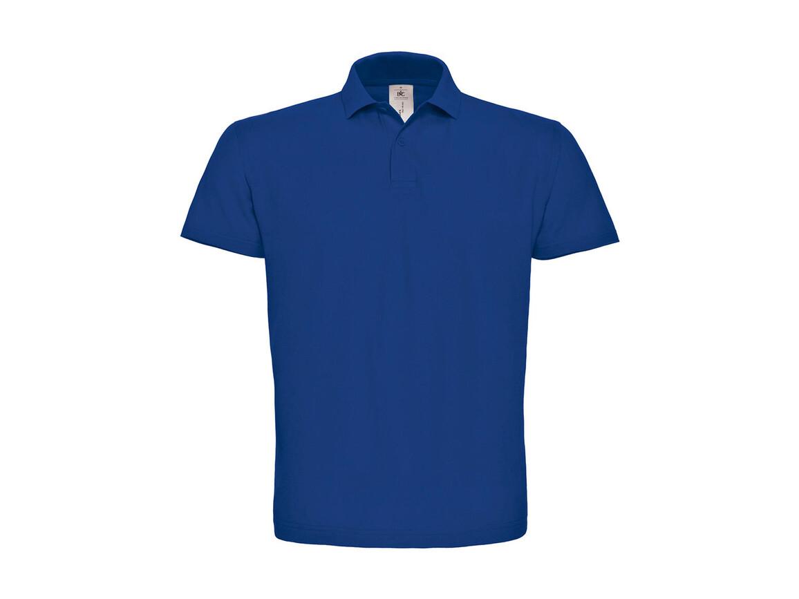 B & C ID.001 Piqué Polo Shirt, Royal, S bedrucken, Art.-Nr. 548423003