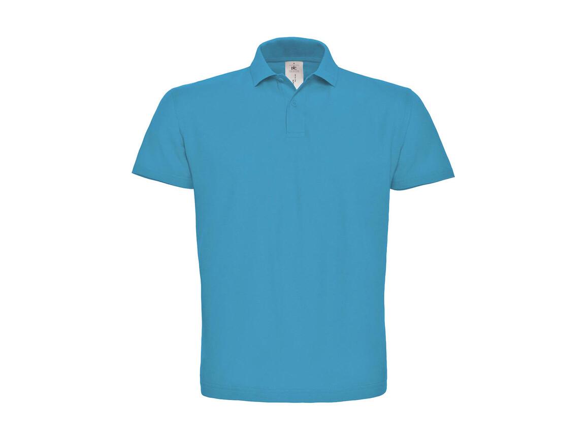 B & C ID.001 Piqué Polo Shirt, Atoll, M bedrucken, Art.-Nr. 548423144