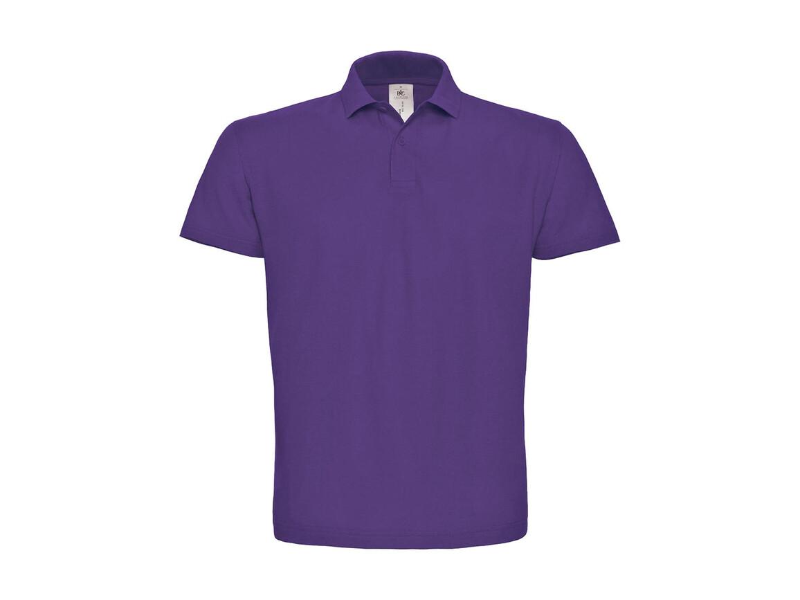 B & C ID.001 Piqué Polo Shirt, Purple, 2XL bedrucken, Art.-Nr. 548423497