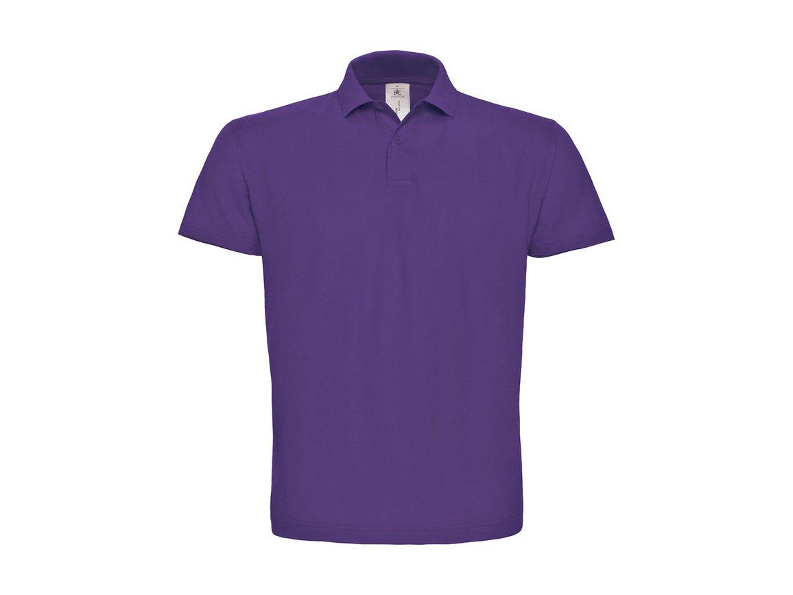 B & C ID.001 Piqué Polo Shirt, Purple, XL bedrucken, Art.-Nr. 548423496