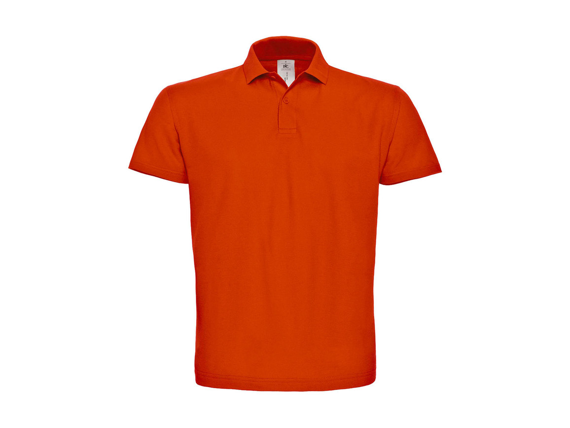 B & C ID.001 Piqué Polo Shirt, Orange, XL bedrucken, Art.-Nr. 548424106