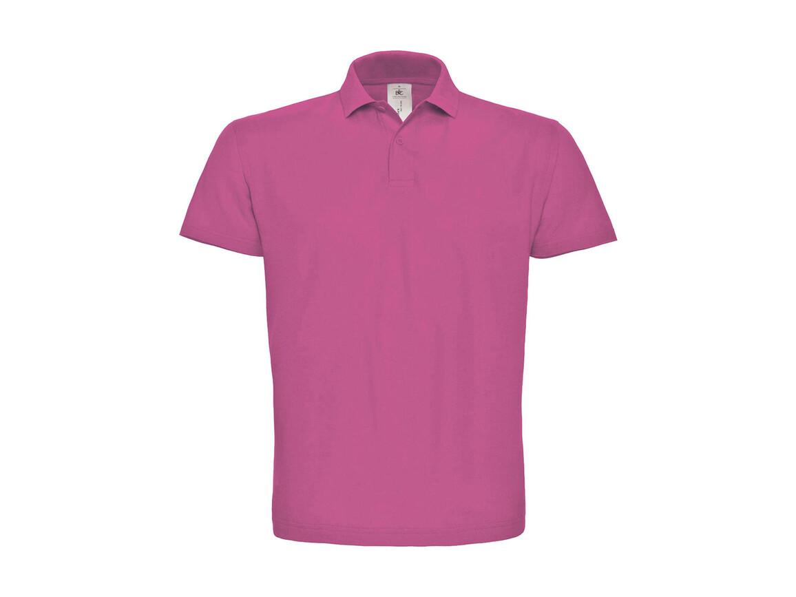 B & C ID.001 Piqué Polo Shirt, Fuchsia, S bedrucken, Art.-Nr. 548424183